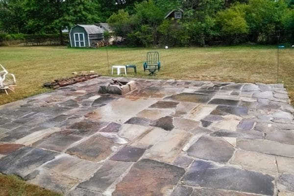 Backyard patio after a spring clean.